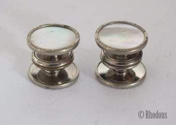 Cufflinks, Vintage Gents Kum-A-Part MOP Links