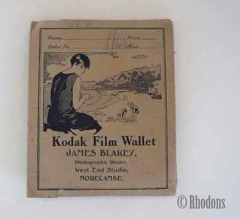 Kodak Film Wallet, James Blakey, West End Studio, Morecombe. Circa 1920/30s
