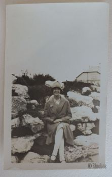 Vintage Photo. Seated Lady With Cloche Hat.