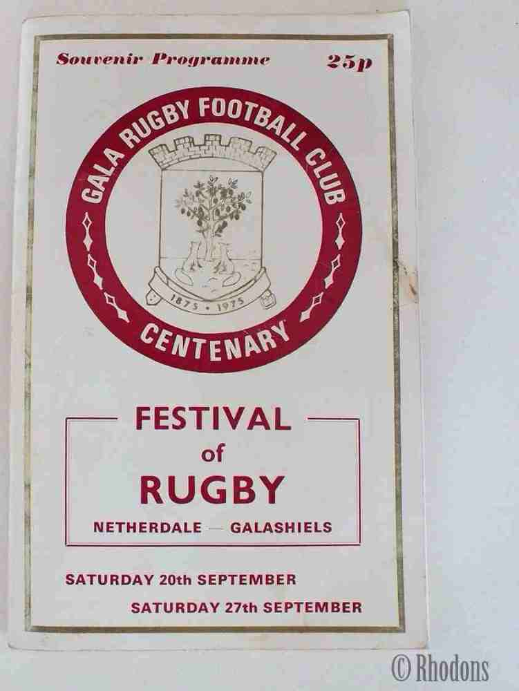 Gala Rugby Football Club Centenary Souvenir Programme,  Gala Juniors v South Juniors 23 September 1975