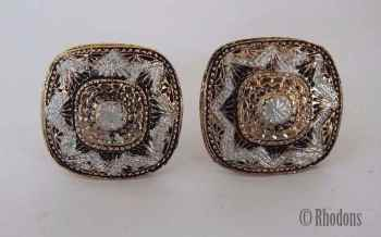 Vintage Gents Damascene Cufflinks