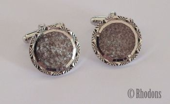 Mens Cuff Links, Round Shape, Circa 1980s