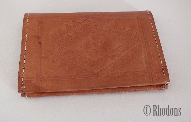 Small Tan Leather Wallet