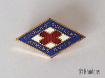 Church Of Scotland Womans Guild Enamel Pin Badge