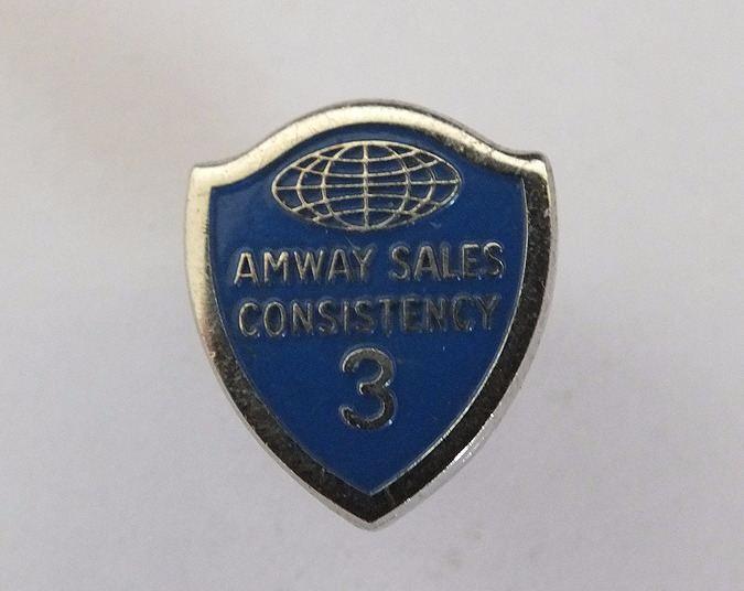 Amway Sales Consistency 3 Month Award Lapel Pin Shield