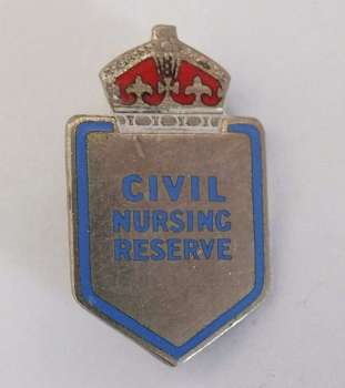 Civil Nursing Reserve Badge, 1940s, WWII, H W Miller