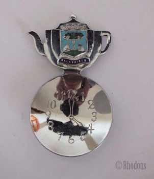 Scottish Souvenir Tea Caddy Spoon, Arms of Galashiels