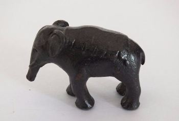 Miniature Bronzed Metal Elephant Figure