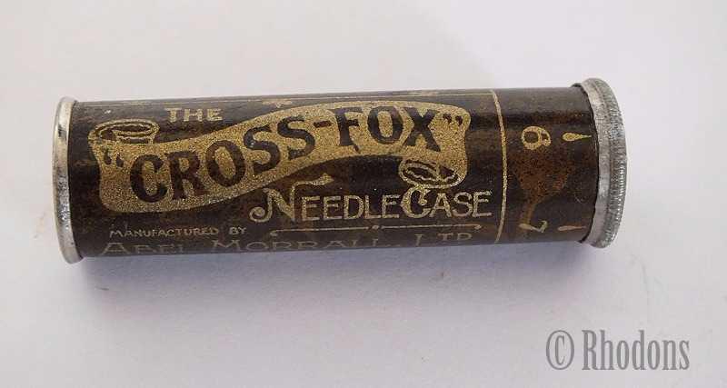 Abel Morrall Cross Fox Needle Case, Early 1900s  (Empty)