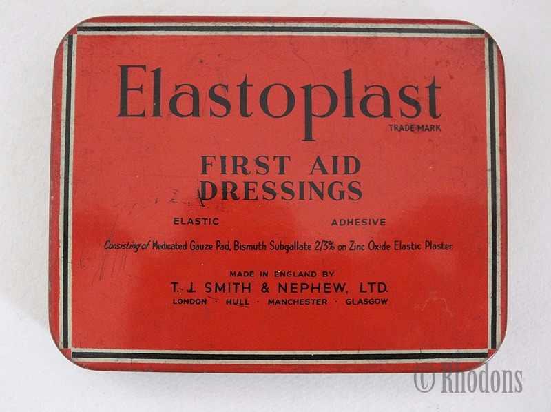 Elastoplast First Aid Dressings, Vintage Packaging Tin