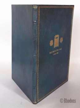 King George V Silver Jubilee Memorabilia Book.  Account of the Ceremony in Westminster Hall on Thursday May 9th 1935