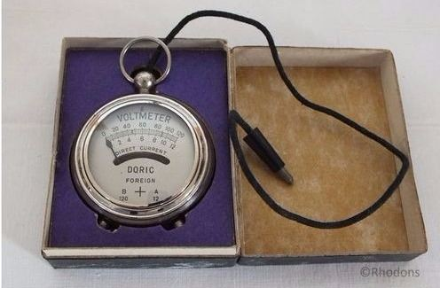 Doric Pocket Voltmeter With Original Box, Circa 1920 /30s