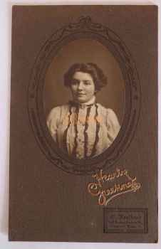 Vintage Greetings Photo, Young Lady. Late Victorian / Edwardian Greetings.  Faulkner, Finsbury Park