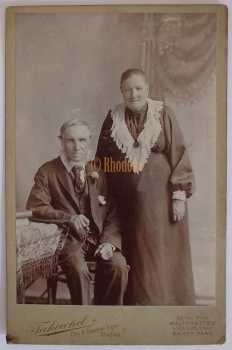 Victorian Cabinet Photo Of An Old Couple. Takewhel Studios, Walthamstow, London