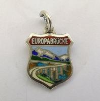 Silver & Enamel Travel Shield Bracelet Charm - Europabrücke.
