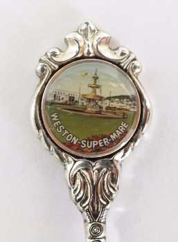 Weston Super Mare Souvenir Teaspoon, Stuart Silver Plate