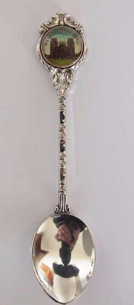 Wells Cathedral, Stuart Silver Plate Souvenir Spoon