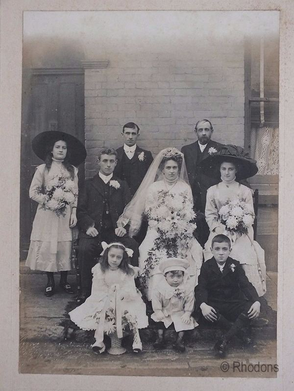 Edwardian Wedding Group Photo, Duxbury Family