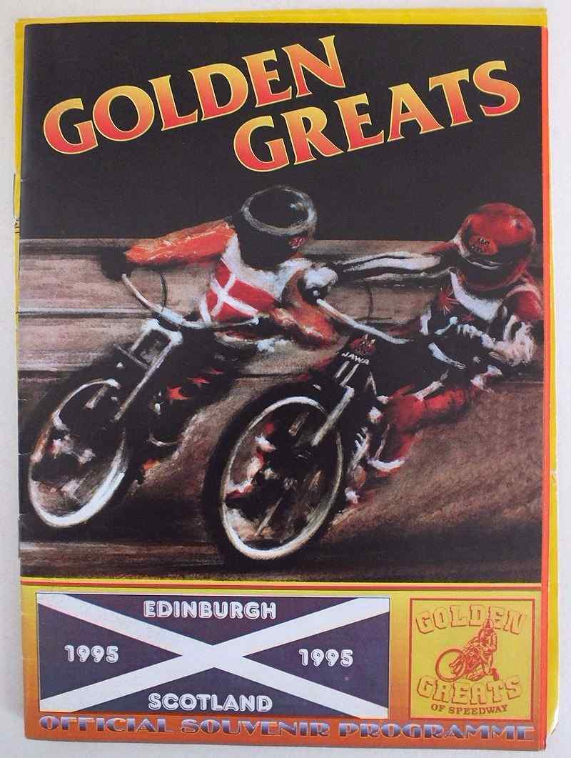 Edinburgh Speedway, Golden Greats Official Souvenir Programme, 1995