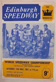 Edinburgh Speedway Programme, World Speedway Championship, May 13 1967