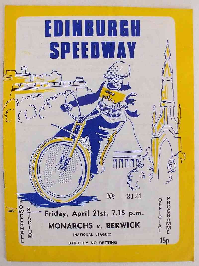 Edinburgh Speedway Programme, Monarchs v Berwick, April 21 1978 (#2121)
