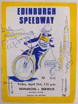 Edinburgh Speedway Programme, Monarchs v Berwick, April 21 1978 (#2122)