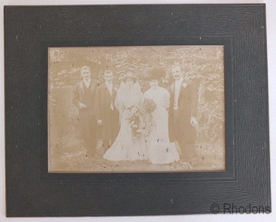 Edwardian Wedding Group Photo, Smith Family
