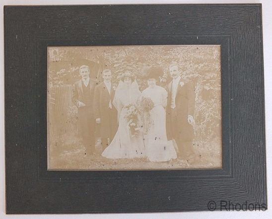 Edwardian Wedding Group Photo, Smith Family