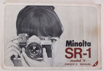 Minolta SR-1 Model V 35mm Camera User Instruction Manual