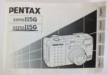Pentax ESPIO115G 35mm Roll Film Camera User Manual