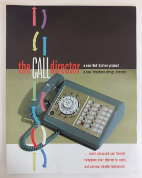 Bell Communications Systems Call Director Telephone, Advertising Brochure, Circa 1958