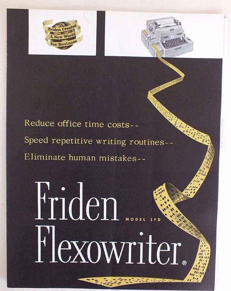 Friden Flexowriter Model SFD, Advertising Flyer, Circa 1959