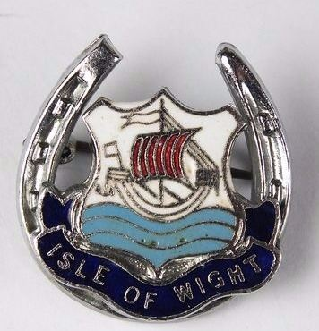 Isle Of Wight Lucky Horseshoe Enamel Pin Badge