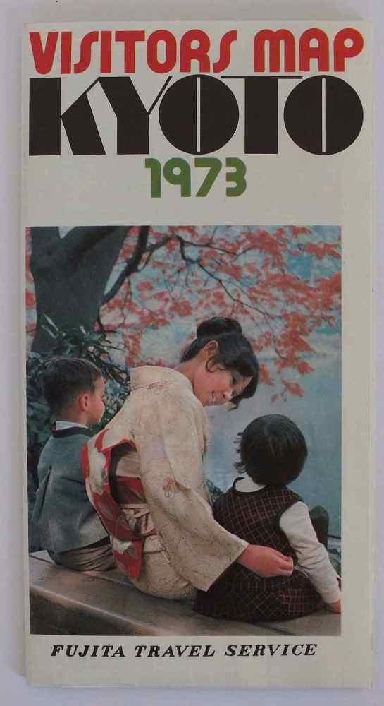 1973 Kyoto, Japan Visitors Map, Fujita Travel Service