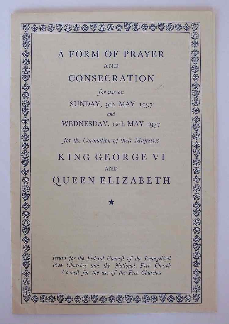 Coronation of King George VI and Queen Elizabeth, May 1937. A Form Of Prayer And Consecration. Original Copy Booklet
