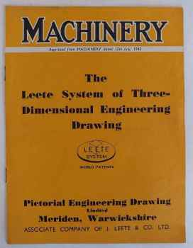 Leete System Of 3 Dimensional Engineering Drawing, 1945 Machinery Pamphlet