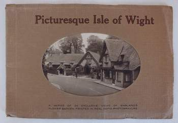 Picturesque Isle Of Wight, 24 Sepia Photo Views, Circa 1930s