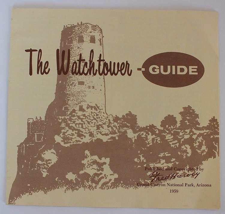Tourist Guide To The Watchtower, Grand Canyon National Park, Arizona, 1959