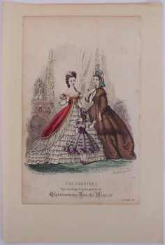 Fashion Advertisment Plate, From The Englishwoman's Domestic Magazine, December 1863