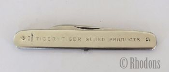 Ibberson Advertising Pen Knife For Tiger-Tiger Glued Products, The Worlds Best