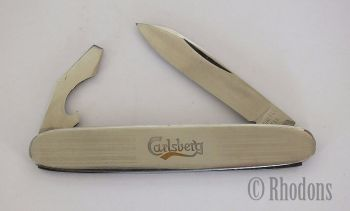 Carlsberg Lager Advertising Pocket Knife, Bottle Opener & Screwdriver