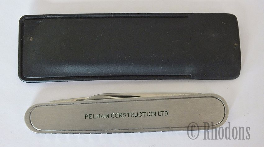 Twin Blade Pocket Knife, Advertising For Pelham Construction