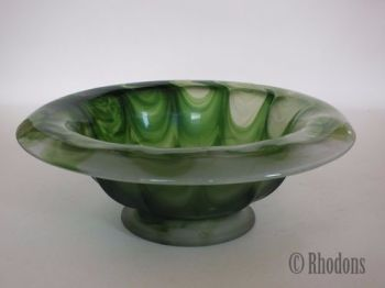 Davidson Green Cloud Glass Bowl, 250mm Diameter
