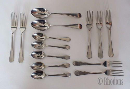 Forks & Spoons, Mixed Lot Of 14 Pieces, Stainless Nickel Silver