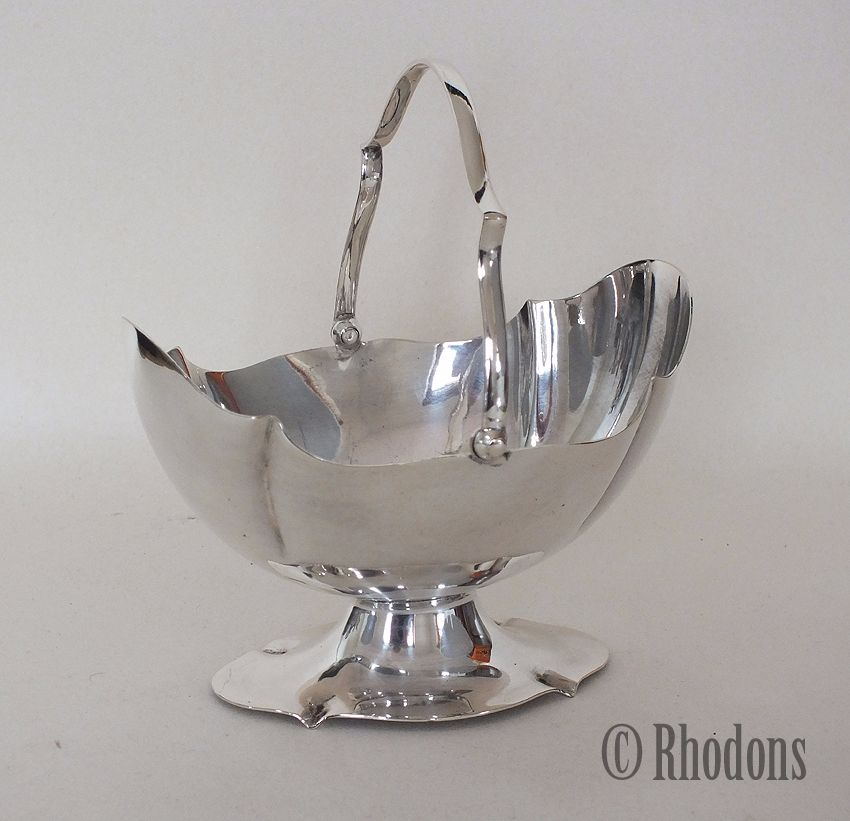 Silver Plate Sugar Bowl, John Sherwood & Sons, Birmingham