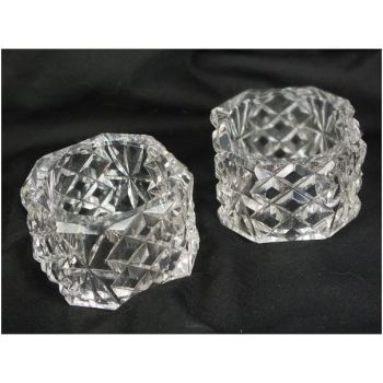 Crystal Cut Glass Napkin Rings