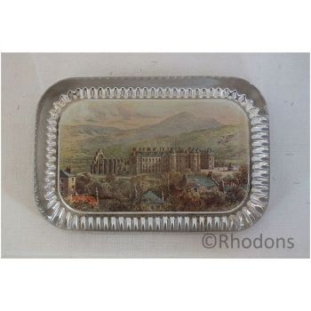 Antique Glass Desktop Advertising Paperweight - W R & S Ltd Reliable Series Photographs, Holyrood Palace