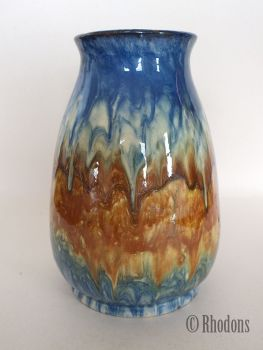 Studio Art Pottery Drip Glaze Vase, Swedish