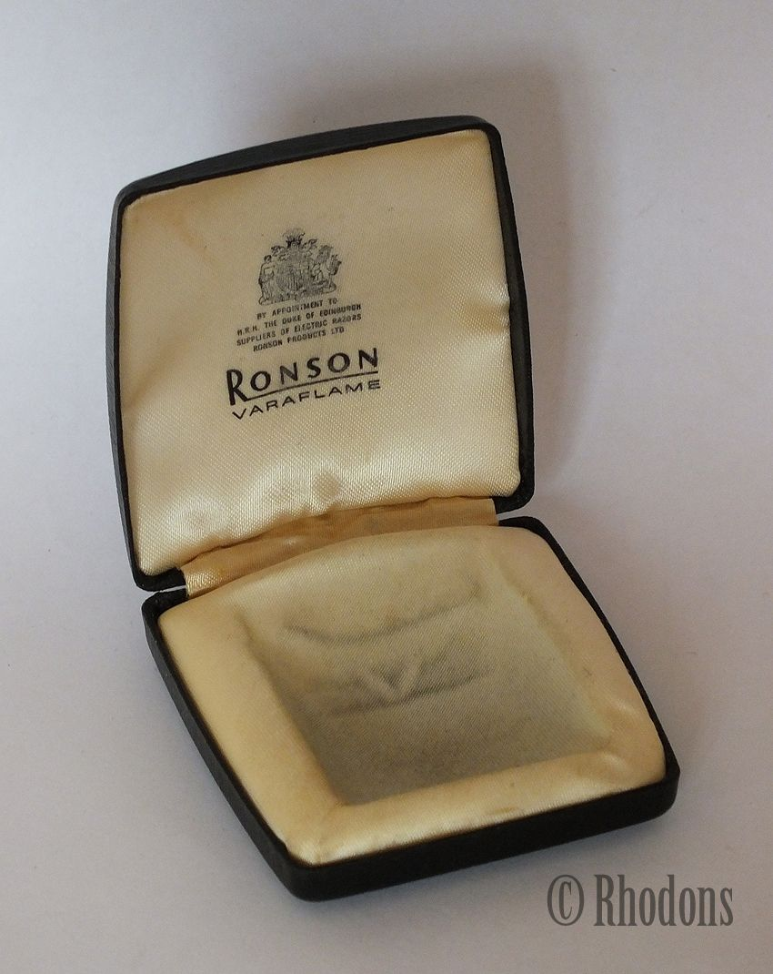 Vintage Ronson Varaflame Cigarette Lighter Presentation Case - Empty