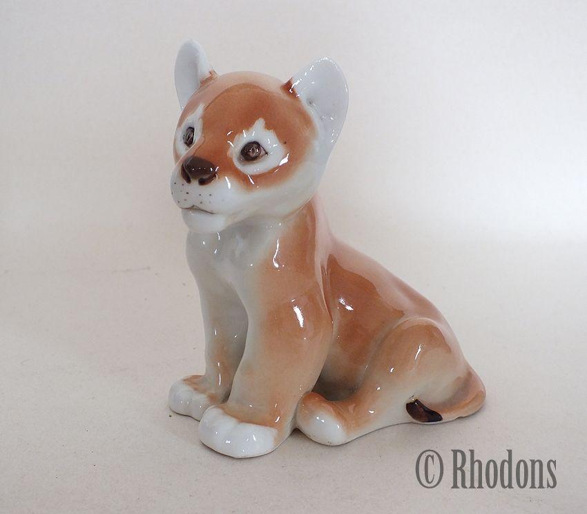 Lomonosov Lion Cub Figure, USSR, Pre 1991